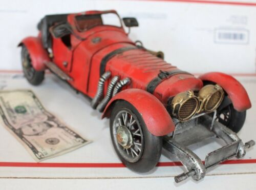 "Vintage Tin Stutz Bearcat Car, Model, 14"" Kit, Collectible"