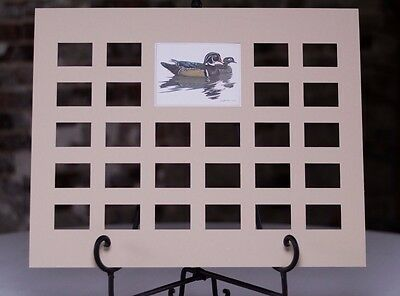 26 Stamp Die Cut Mat-Designed for Duck Stamp Collectors - Fits 16x20 Frame