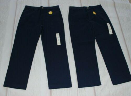 Lot of 2 Cat & Jack school uniform navy blue slacks pants size 10 H husky