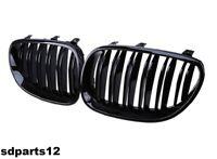 SPORT RENI GRIGLIA ANTERIORE NERO OPACO per BMW 5er e60 e61 03-10