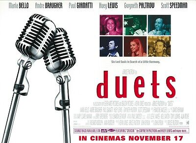 Duets Movie Poster : Huey Lewis And The News, Gwyneth Paltrow : 12 X 16 Inches