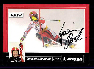 Christine Sponring Autogrammkarte Original Signiert Ski Alpine + A 151840