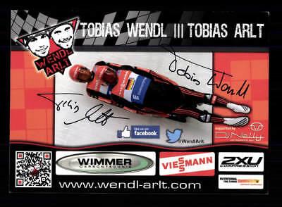 Tobias Wendel Tobias Arlt Autogrammkarte Original Signiert Rodeln +A 177698