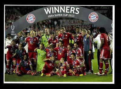 Bayern München Mannschaftskarte UEFA Supercup Sieger 2013 TOP