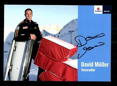 David Möller Autogrammkarte Original Signiert Rodeln + A 157023