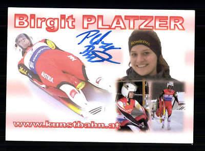 Birgit Platzer  Autogrammkarte Original Signiert Rodeln +A 191832