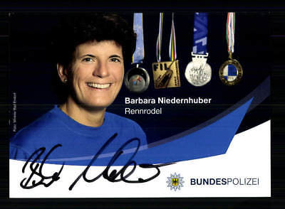 Barbara Niernhuber  Autogrammkarte Original Signiert Rodeln +A 191833