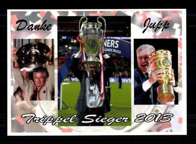 Jupp Heynckes Autogrammkarte Bayern München Triple Sieger 2013 Danke Jupp
