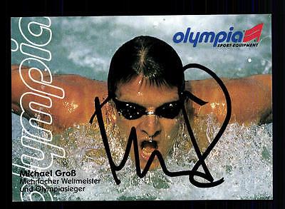 Michael Groß Autogrammkarte Original Signiert Schwimmen + A 134621