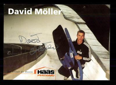 David Möller Autogrammkarte Original Signiert Rodeln +A 177846