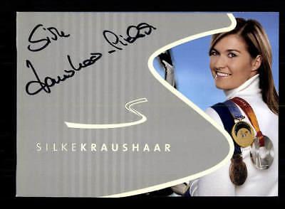 Silke Kraushaar Autogrammkarte Original Signiert Rodeln +A 177859