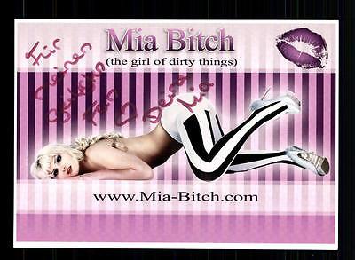 Mia Bitch Autogrammkarte Original Signiert # BC
