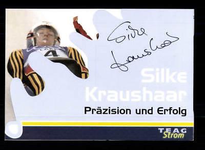 Silke Kraushaar Autogrammkarte Original Signiert Rodeln +A 177694