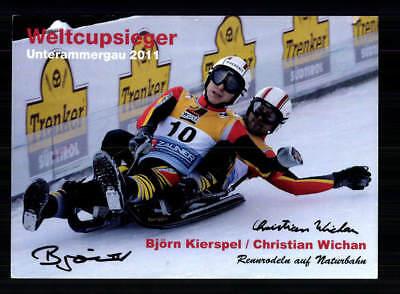 Kierspel / Wichan Autogrammkarte Original Signiert Rodeln +A 191830