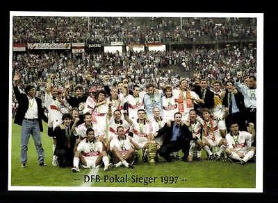 VFB Stuttgart Mannschaftskarte DFB Pokalsieger 1997