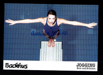 Annika Walter Autogrammkarte Original Signiert Schwimmen + A 155358