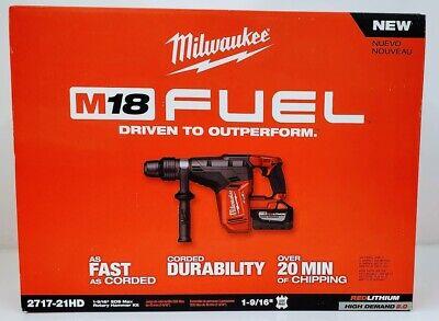Milwaukee 2717-21hd M18 Fuel 1-916 Sds-max Rotary Hammer Kit