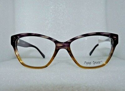 NEW MIYAGI EYEWEAR MILAN 2554 COL 4 EYEGLASSES GLASSES FRAMES 53-16-135 PURPLE