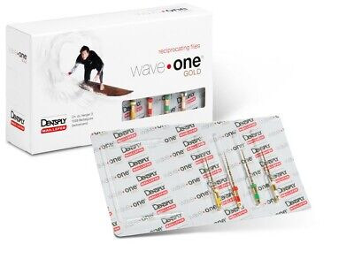 Waveone Gold Yellow Red Green White Reciprocating File Dentsply 4pk 25mm Endo