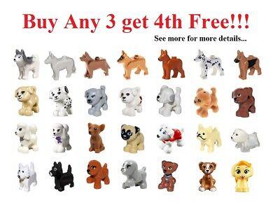 ☀️NEW Lego Friends Animal Pet Dark Orange DOG Cute Scarlet puppy Figure Minifig