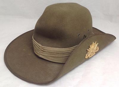 Slouch Australian Military Forces Korean War Rising Sun Hat Badge  1948-53, 56cm