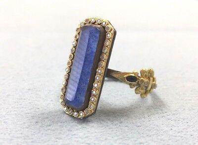 Brand New, EMILY ARMENTA lapis, blue sapphire & diamond, 18K gold eternity ring Blue Sapphire Lapis Ring