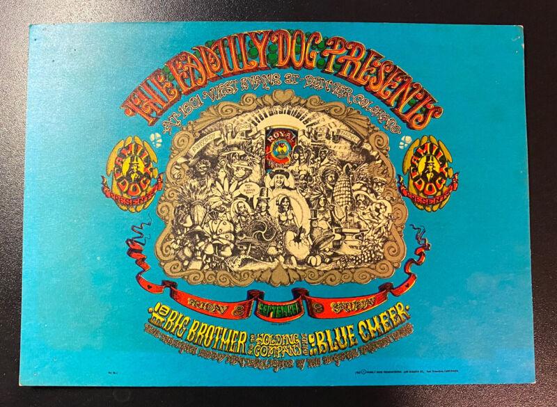 FD-79 Family Dog Denver Handbill - Big Brother Blue Cheer -Denver Opening Night