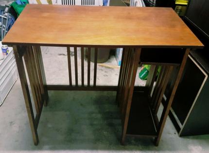 Unique small wooden desk