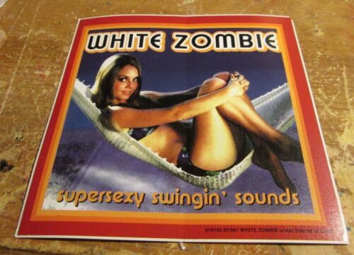 WHITE ZOMBIE STICKER COLLECTIBLE RARE VINTAGE1998 METAL LIVE DECAL ROB ZOMBIE