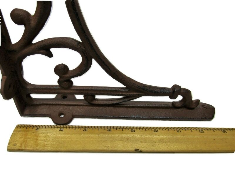Set of 4 Cast Iron Shelf Brackets SMALL 6.25 x 4.25 Hangers New Antique Style
