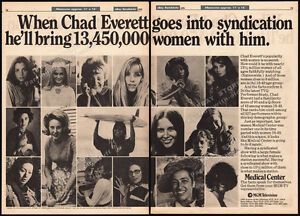 MEDICAL CENTER / CHAD EVERETT__Orig. 1976 Trade AD promo / TV series syndication