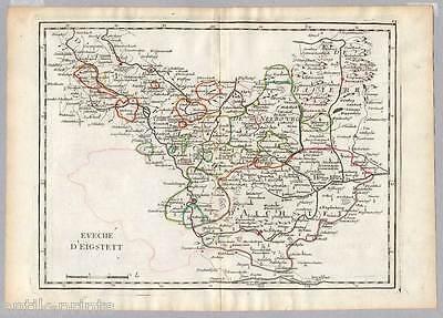 Eichstätt - Bayern - Karte aus Atlas Portatif - Le Rouge 1759 - Map