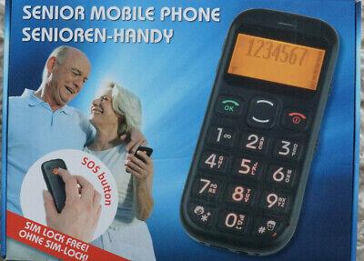 Seniorenhandy mit SOS - Taste  integriertes Licht Simlockfrei extra große Tasten