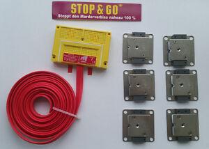 STOP&GO Marderabwehr Typ 8 PLUS-MINUS Hochspannung+Ultraschall+Batterie 07544