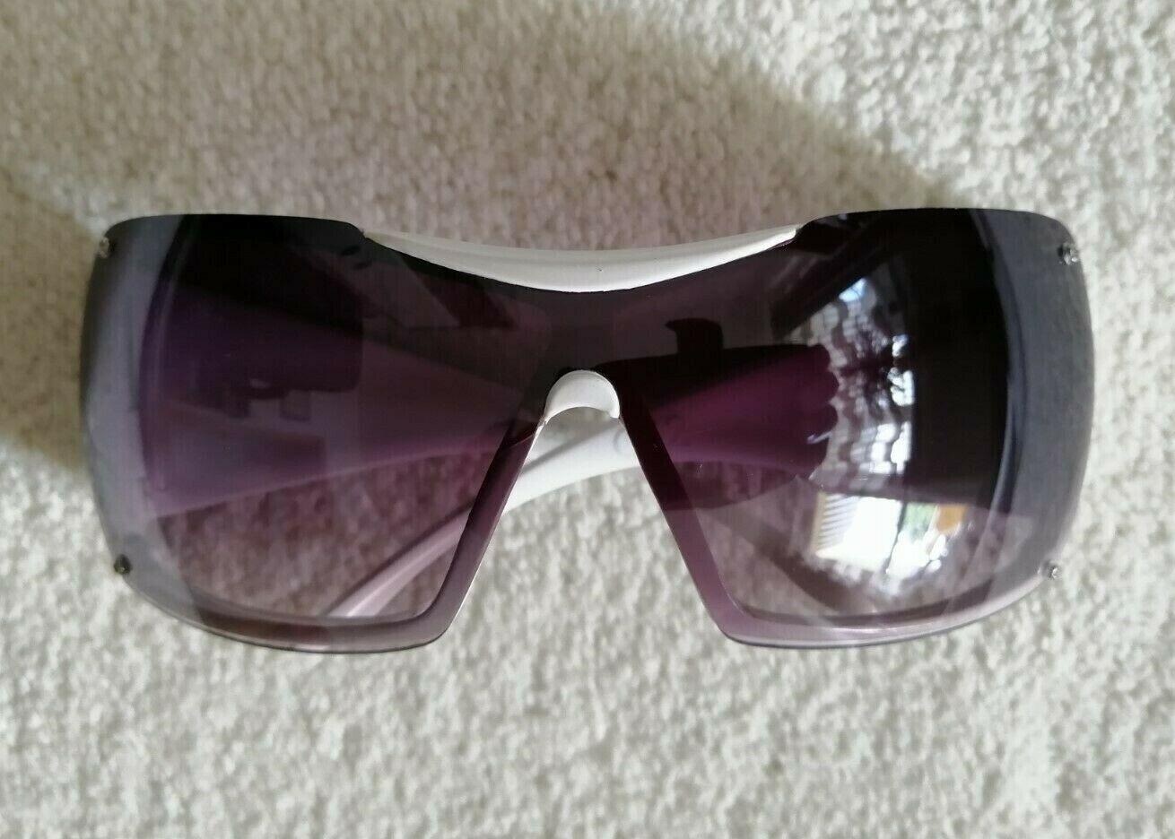 Bijou Brigitte Lady Damen Sportbrille Sonnenbrille Schutzbrille Shield weis lila