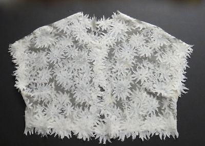 "Vintage Alencon Lace Bolero Jacket - Size ""S"" Daisies - Vintage Wedding Perfect"