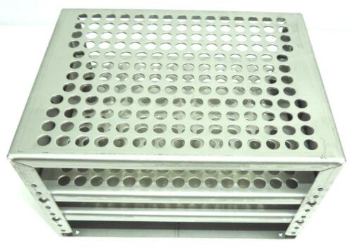 Lab Companion, AAA45552 10mm x 176 Holes Test Tube Rack Stainless Steel