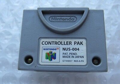 Official Nintendo 64 N64 OEM Video Game Memory Card Controller Pak Pack SAVES