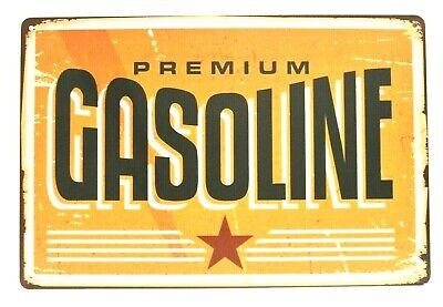 New Gas Station Gasoline Tin Sign Art Vintage Style Advertising Man Cave Garage