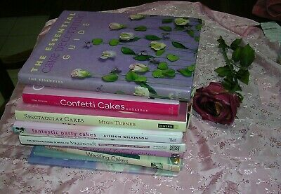 Lot of 10 Cake & Food Decorating BOOKS -FABULOUS CAKES IN THESE BOOKS WILTON ETC