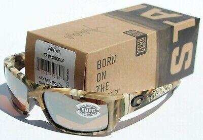 COSTA DEL MAR Fantail POLARIZED Sunglasses Mossy Oak/Silver Mirror Camo 580G (Costa Fantail 580g Camo)