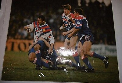 Alan Hunte Photo Great Britain v France 2nd April 1993 @ Headingley, Leeds