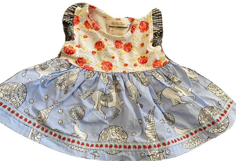 Matilda Jane Baby 6 Months Bitty Ballerina Top Floral Circus Animals
