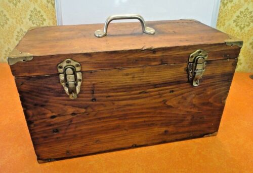 Vintage RARE HORSESHOES WOOD STORAGE GAME BOX CARRY CASE A UNIQUE HAND MADE VG