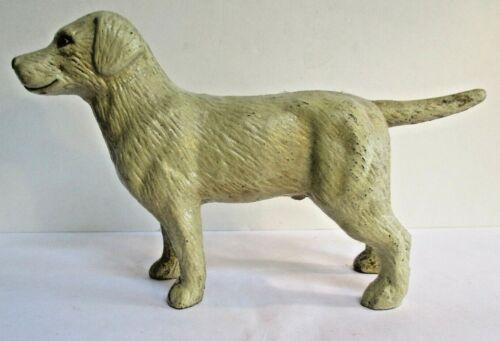 Cast Iron Yellow Labrador Bank - good condition