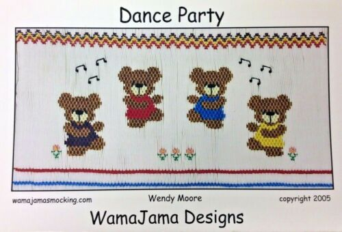 WAMAJAMA DESIGNS SMOCKING PLATE- DANCE PARTY