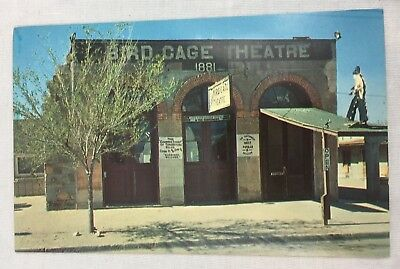 Vintage Postcard Famous Bird Cage Theater Tombstone, Arizona Museum