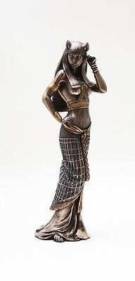 LARGE GODDESS BASTET STATUE CAT HUMAN FORM DEITY FIGURINE ANCIENT EGYPTIAN  on Rummage