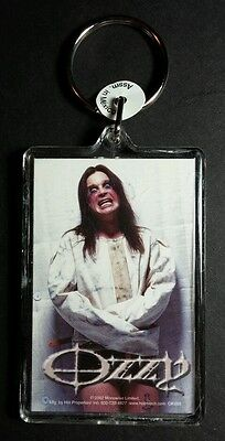 AS-IS OZZY OSBOURNE STRAIGHT JACKET CRAZY FACE WHITE MUSIC KEY CHAIN KEYCHAIN