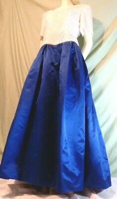 Vintage Mardi Gras/Prom/Costume Ball Gown Richilene NY Royal Blue White  (Mardi Gras Ball Gowns)